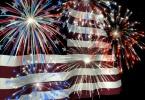 fireworks over us flag 1
